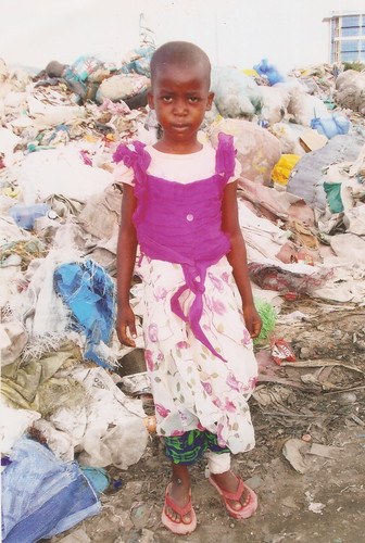 Betty at her home on the rubbish tip
