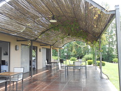 outdoor structure, property, pergola, orangery, architecture, ceiling, real estate,