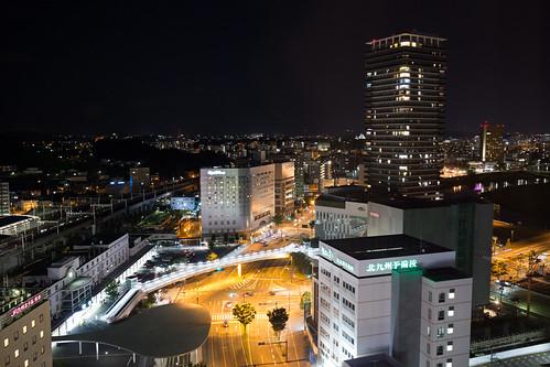 Night view from Toyoko-inn Kumamoto-Ekimae (1)