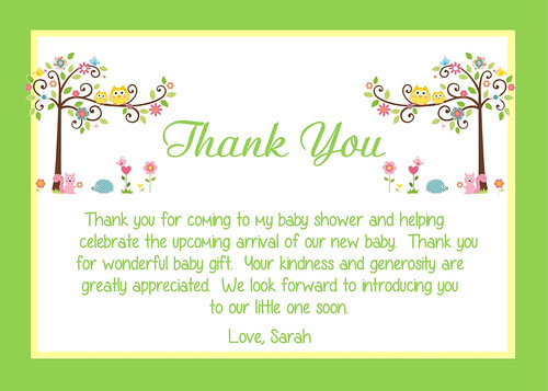 Thank You For Coming To Our Baby Shower