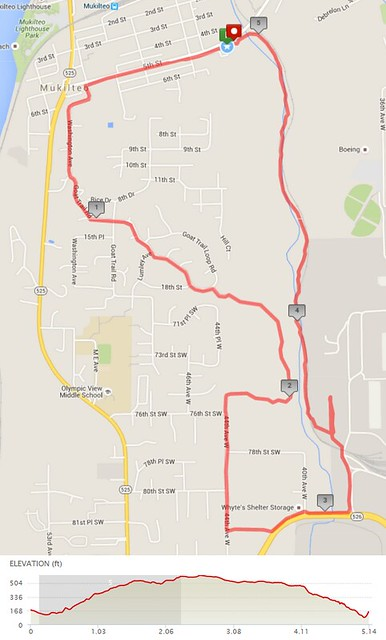 Today's awesome walk, 5.14 miles in 1:38, 11,051 steps, 494ft gain
