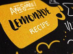 A type-based lemonade recipe card