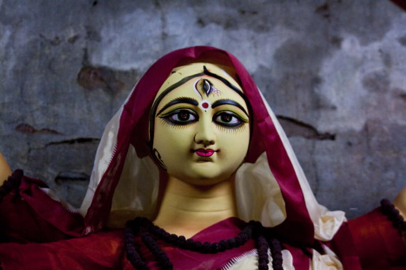 Goddess Durga - at Kumortuli, Kolkata, India
