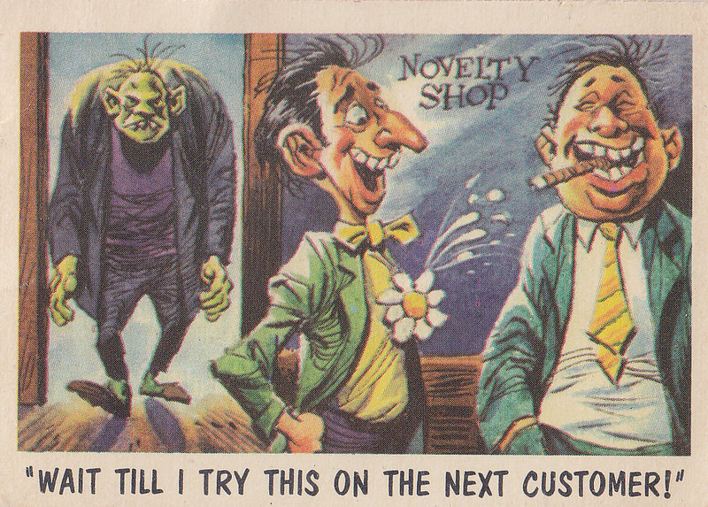 """You'll Die Laughing"" Topps trading cards 1959,  illustrated by Jack Davis (16)"