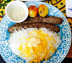 Beef Kebabs with Basmati rice @ Persia Grill BGC