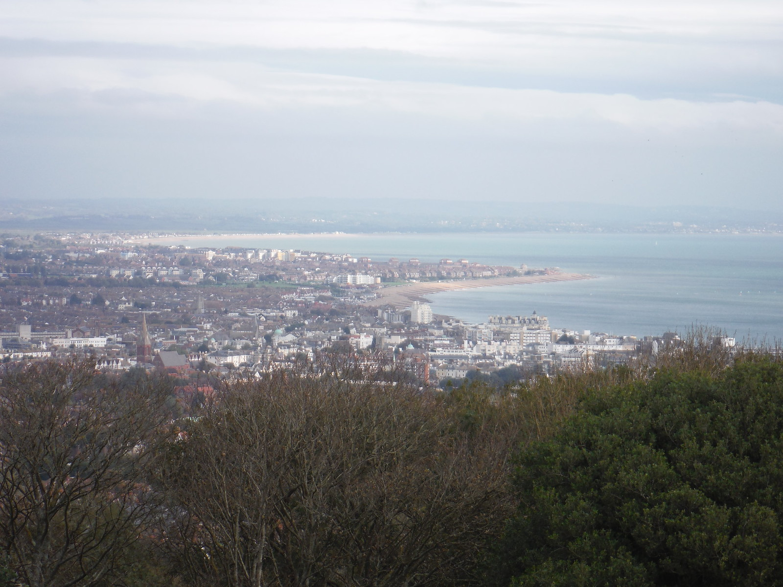 Eastbourne from the Downs SWC Walk 25 - South Downs Way 8 : Southease to Eastbourne