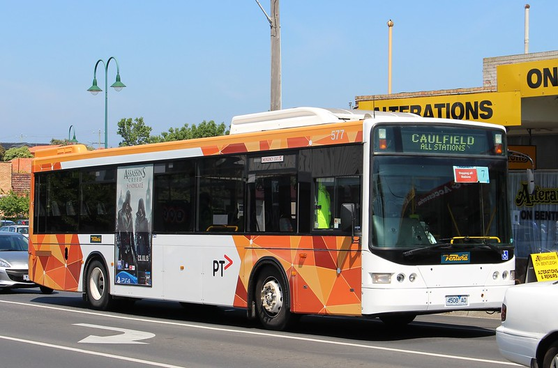 Replacement bus for Bentleigh level crossing removal works 24/10/2015