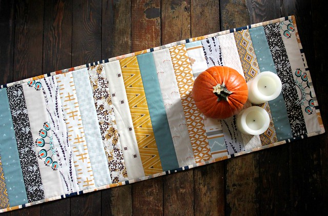 Quick QAYG Thanksgiving Table Runner