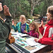 Being sworn in as Junior Rangers at Muir Woods National Monument. Brie's arm was getting tired.