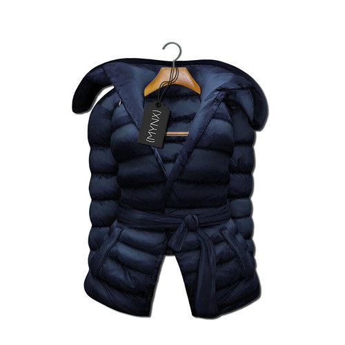 {MYNX} Puffy Tie Jacket - Navy Ad
