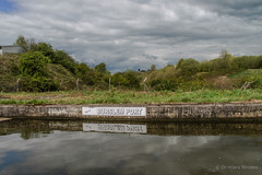 Sign on the canal bank showing the site of Burslem Arm