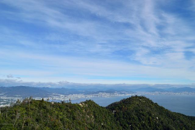 獅子岩展望台からの眺め(広島市方面)