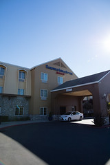 Entrance to Fairfield Inn and Suites