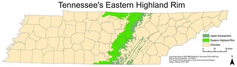 Eastern Highland Rim of Tennessee