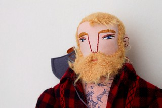 blond lumberjack face