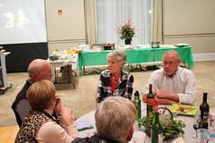Bill talking about birdsBill Williams, Nancy Barnhart. Photo by George Reiske.