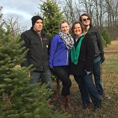 The Kobylarz family with their tree #familytradition #christmastreecutting