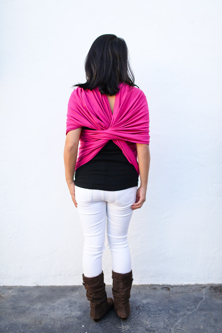 A Versatile Travel Scarf + Dress + Cardigan that can be worn 8+ Ways - The X-back Halter Style - *Encircled Chrysalis Cardi Review*