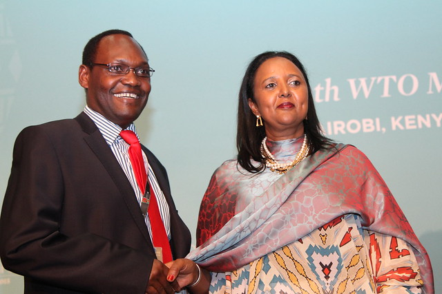 The closing ceremony of the 10th WTO Ministerial Conference