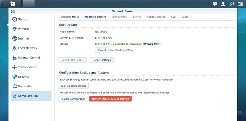 Synology Router RT1900ac - Firmware Update