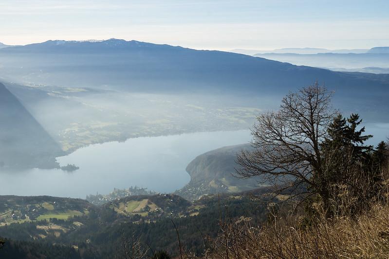 Vue sur la Lac d'Annecy