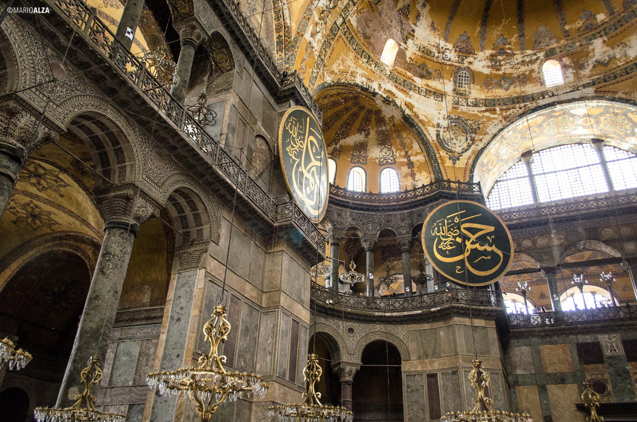 Interior de Santa Sofía (Hagia Sophia)