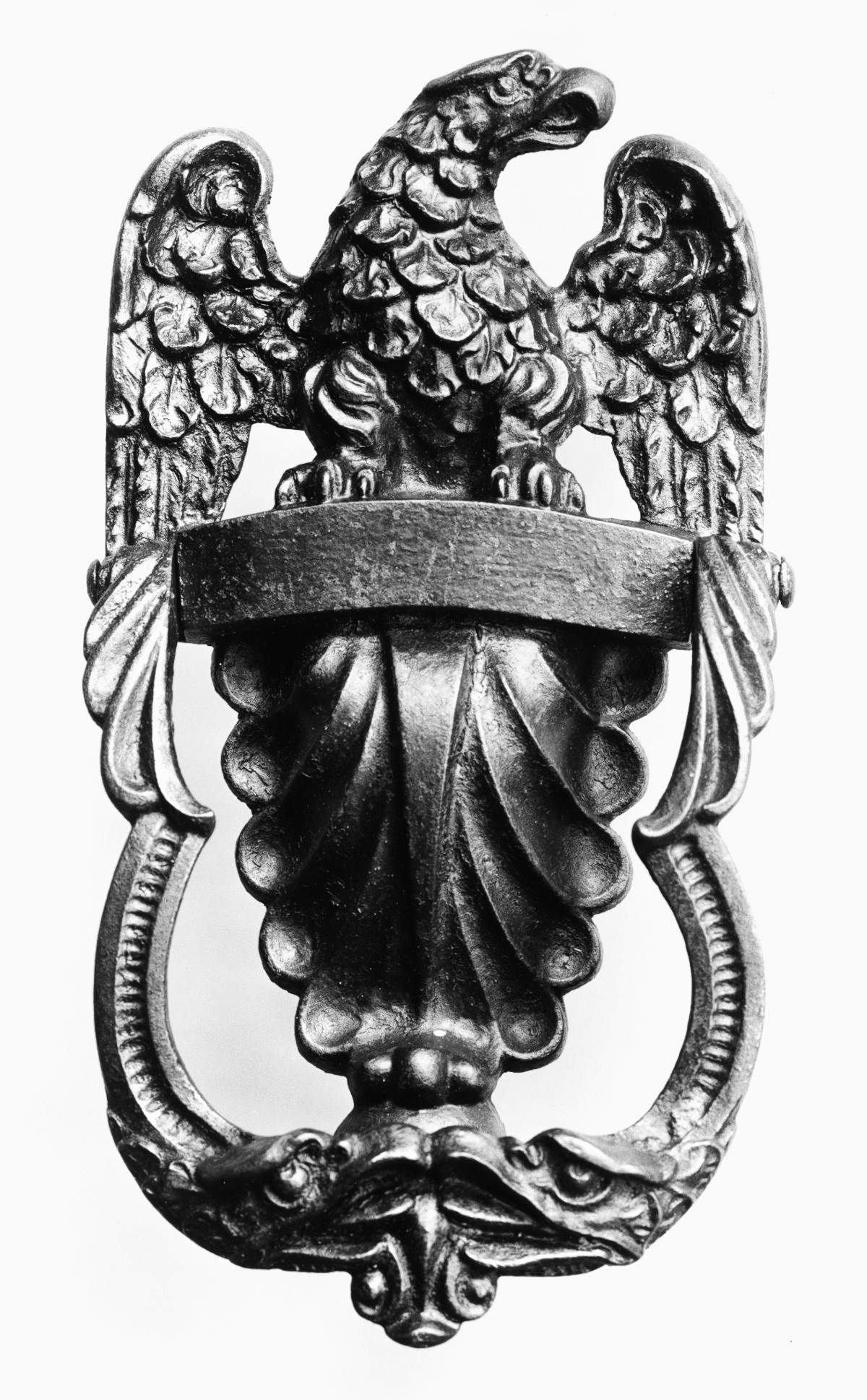 Eagle Door Knocker, 1800. Cast iron. metmuseum