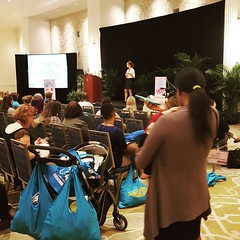 @finding_joy was the big draw for moms at #wowsummit