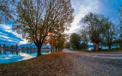 autumn autumnmorning autumncolours lakes sunrise lakezajarki zajarki zaprešić nikond600 sigma1528fisheye fisheye