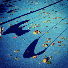 Swinging #shadows at the park on a beautiful #fall day. #latergram