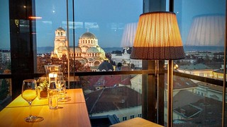 Drinks in Sofia  #cathedral #sofia #bluehour #drinks #bulgaria #travelmemo