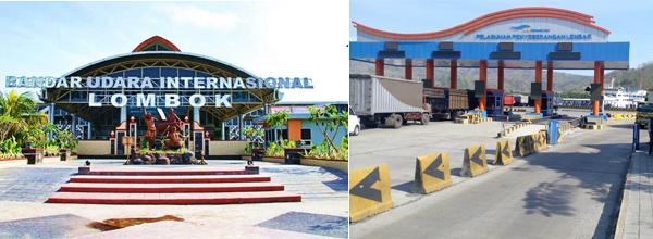 Bandara dan Pelabuhan Lombok
