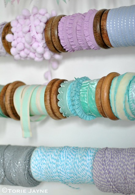 Spools of ribbon and bakers twine