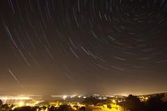 Star trails sobre la Ría de Ares