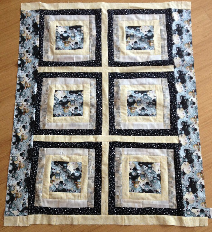 Finished Sheep Quilt Top