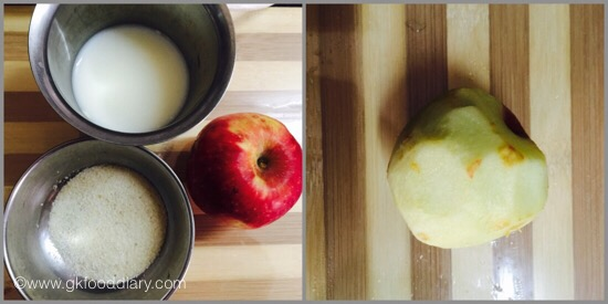 Apple Suji Kheer for babies - step 1
