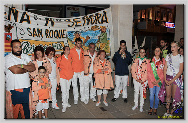 Minuto de silencio en memoria de Pedro Villar y desfile de peñas (1)