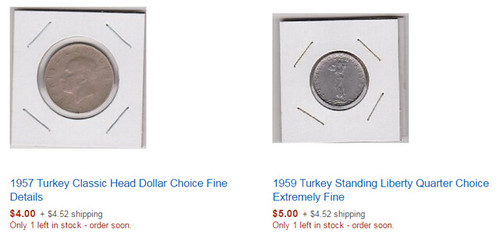 Amazon Turkey coins