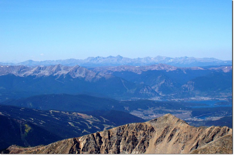 Looking west from the summit of Grays Peak,Mt.of the Holy Cr