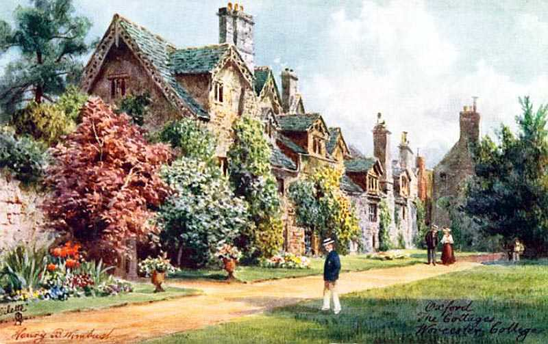 Oxfordshire, Oxford, Worcester College, The Cottages 1900's