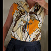 Vintage shirt with horse bridle inspired pattern. by How to work pre-owned wear.