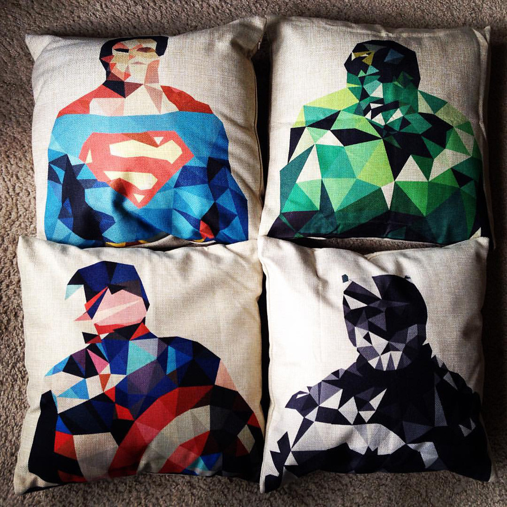 superhero sofa pillow covers