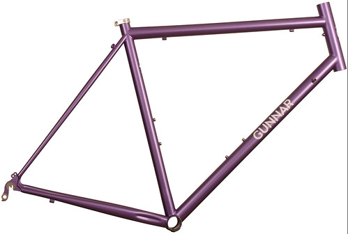 <p>Gunnar Sport in Starlight Purple.  The Sport makes a most comfortable road bike with medium wheelbase, relatively upright fit and capacity for bigger tires.</p>