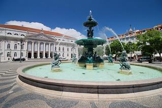 Image of Dom Pedro IV. portugal unesco baixa fontaine lisbonne rossio praçadompedroiv marquisdepombal