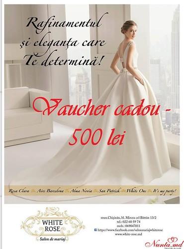 Салон White Rose > Ваучер 500 лей на Свадебные Платья
