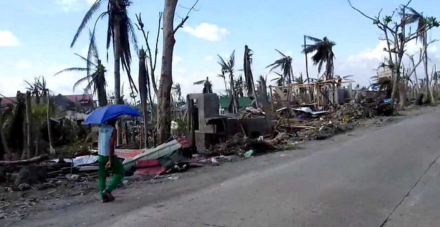 Screenshot of the damage wrought to Santa Fe during Super Typhoon Yolanda - 2 December 2013. (YouTube)