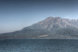 View of Sakurajima in afternoon on OCT 24, 2015 (3)
