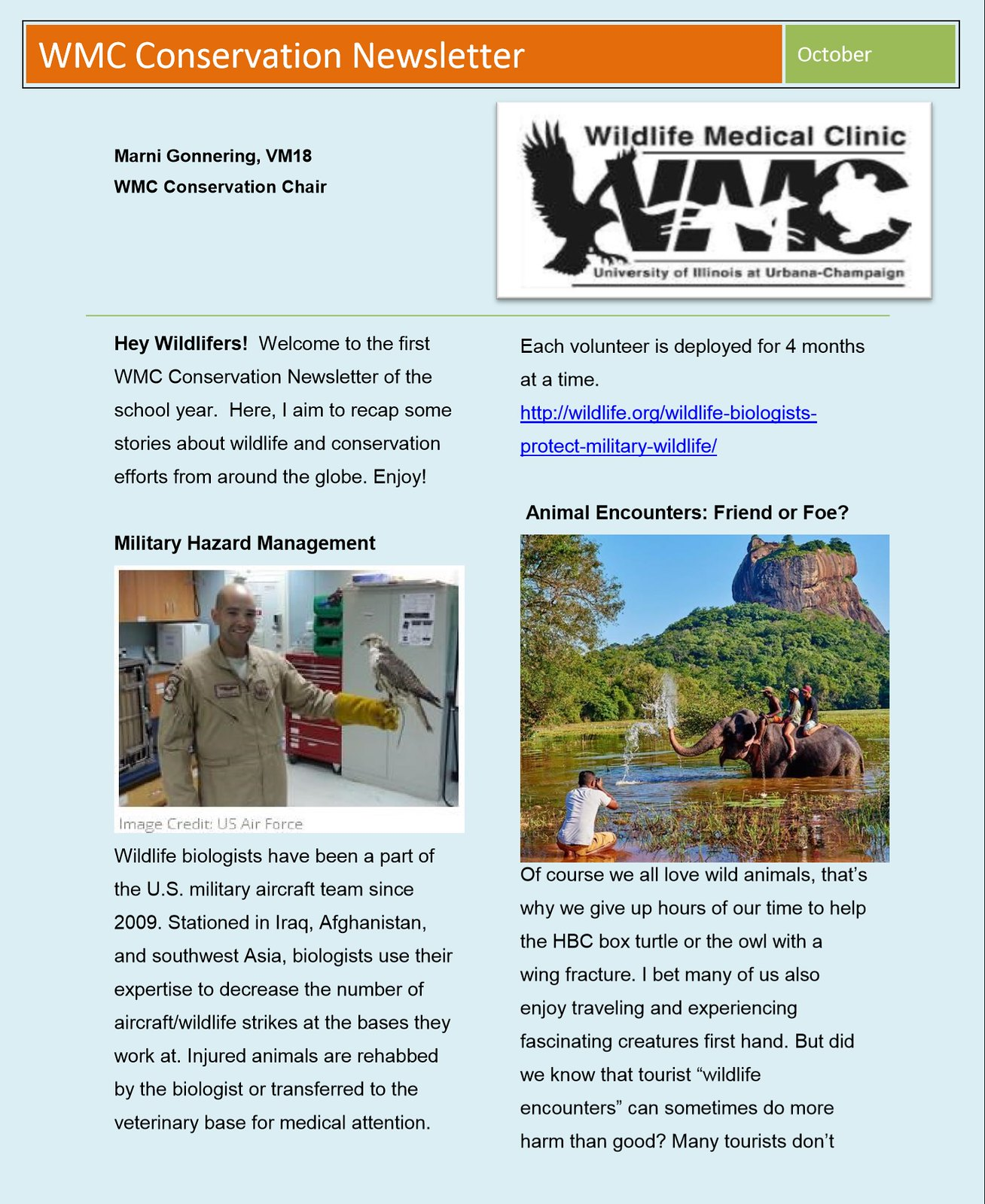 October | 2015 | Wildlife Medical Clinic at Illinois