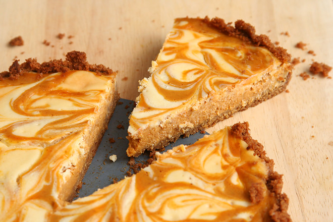 pumpkin cheesecake tart 6