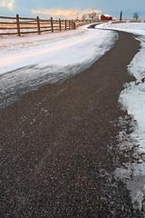 Winding Winter Road - Gettysburg